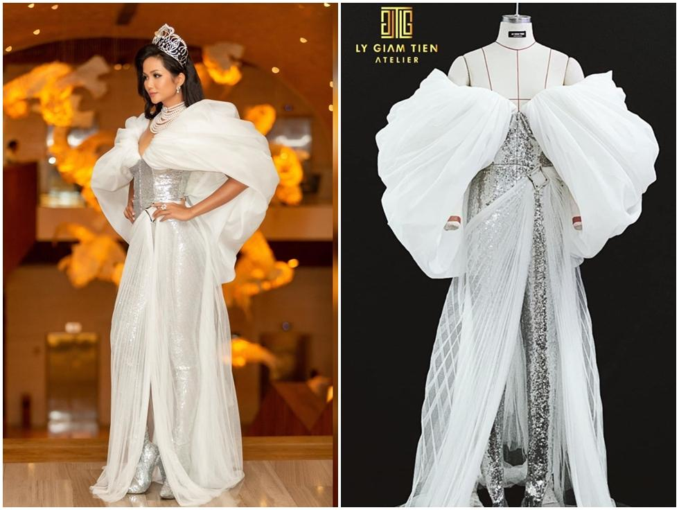 H'Hen Niê lại gây ngỡ ngàng với trang phục 'trên công chúa, dưới kỵ sĩ' khi công bố cuộc thi Hoa hậu Hoàn vũ 2019