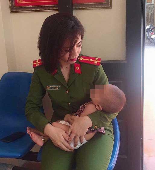 Nữ thượng úy xinh đẹp khuyên người đàn ông định ôm con tự tử phải mạnh mẽ, làm chỗ dựa cho vợ con-2