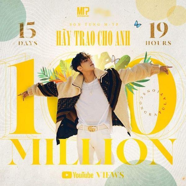 Không chỉ cán mốc MV 100 triệu view nhanh nhất Việt Nam, Hãy Trao Cho Anh của Sơn Tùng MTP còn hạ bệ Taylor Swift, Ed Sheeran đây này!-2