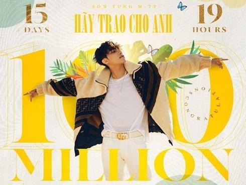 Không chỉ cán mốc MV 100 triệu view nhanh nhất Việt Nam, 'Hãy Trao Cho Anh' của Sơn Tùng MTP còn hạ bệ Taylor Swift, Ed Sheeran đây này!