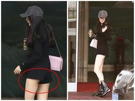 Dương Mịch diện jumpsuit ngắn cũn hớ hênh vòng 3 khiến netizen được dịp 'bổ mắt'