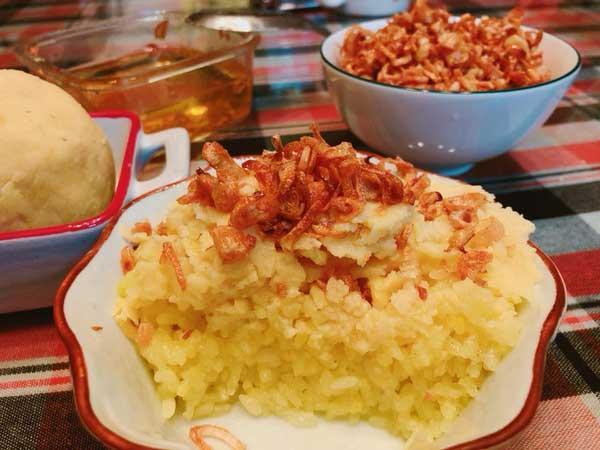Hướng dẫn cách nấu xôi xéo bằng nồi cơm điện, dễ dàng mà thơm ngon-1