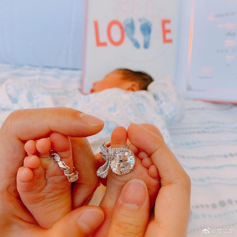 Triệu Mẫn An Dĩ Hiên chính thức hạ sinh con trai đầu lòng cho đại gia sòng bài Macau-1