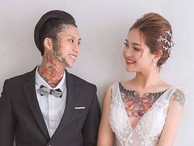 Hot girl Tây Nguyên được chồng 'nhuốm' kín ngực bằng hình xăm lạ