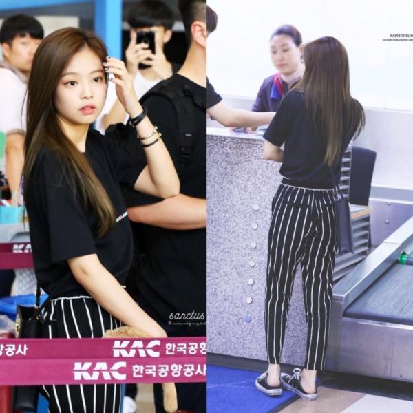 Level gợi cảm của Jennie (Black Pink) tại sân bay ngày càng thăng cấp, đảm bảo không ngán ai-2