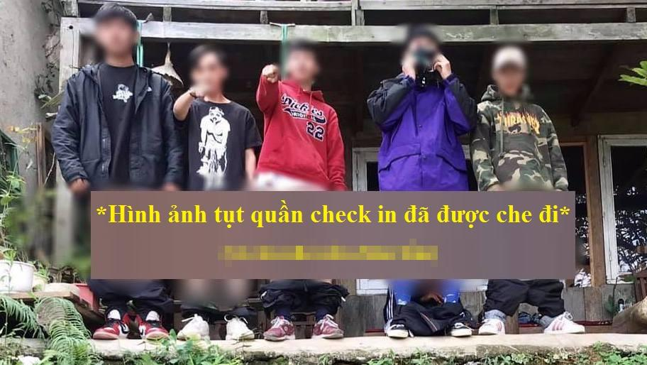 Nhóm bạn trẻ tụt quần chụp ảnh tại Đà Lạt