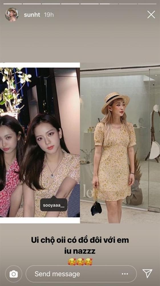 Khoe ảnh diện đồ đôi với Jisoo trên Instagram, Sun HT bị nghi mặc đồ nhái-1