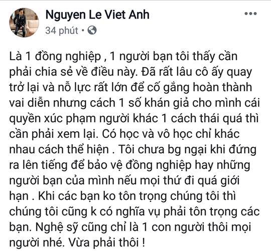 Quỳnh Nga bị thóa mạ vì vai tiểu tam trong Về Nhà Đi Con, Việt Anh dằn mặt khán giả: Có học và vô học chỉ khác nhau cách thể hiện-4