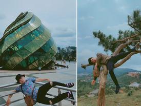Thanh niên chơi trội chụp bộ ảnh vừa đi chơi vừa ngủ gật tại Đà Lạt không ngờ nhận cơn bão chia sẻ mạng xã hội