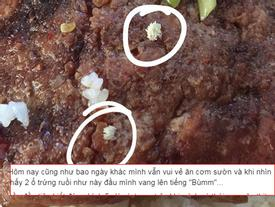Hãi hùng, thanh niên tố đi ăn cơm sườn được 'khuyến mãi' 2 ổ trứng ruồi