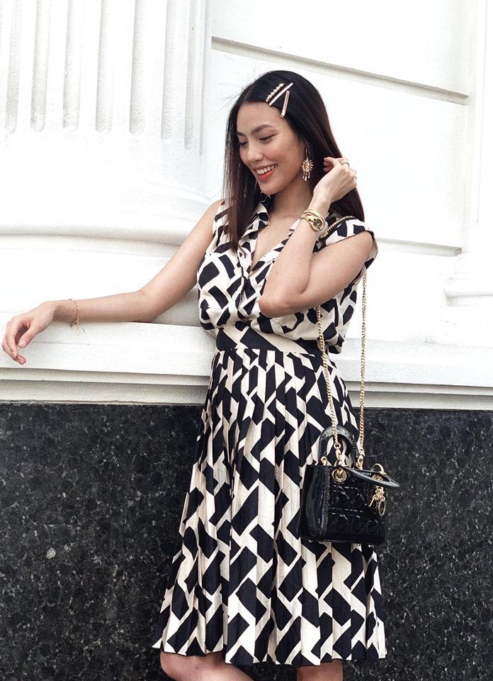 Lấy chồng giàu nhưng Lan Khuê tiết kiệm tối đa: Mang bầu 6 tháng vẫn dùng lại váy thời thiếu nữ-1