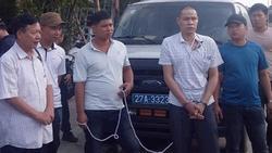 Kẻ chủ mưu Vì Văn Toán rơm rớm nước mắt khi thực nghiệm hiện trường cảnh đồng bọn khiêng nữ sinh giao gà đi sát hại