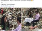 Bức ảnh chàng trai ngoại quốc đưa người yêu ra bãi rác tỏ tình gây tranh cãi mạnh trong mạng xã hội