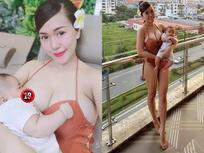 Hotmom vòng 1 khủng Mai Thỏ khẳng định 'vẫn còn ngon' từ hình ảnh phô diễn ngực cho con bú gây tranh cãi