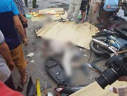 Hiện trường ám ảnh, không dám nhìn vụ đứng xem tai nạn khiến ít nhất 6 người tử vong tại Hải Dương