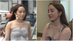 Trong lúc chờ Dương 'thay trời hành đạo', khán giả lại ngán ngẩm vì kiểu ăn mặc như gái ngành của Nhã 'tiểu tam' trong 'Về nhà đi con' tập 71