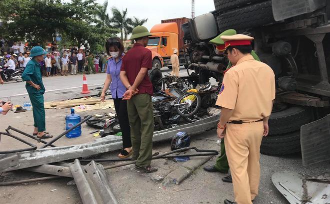 Nhân chứng kể lại tai nạn ám ảnh ở Hải Dương: Rùng mình khi bánh xe tải đè lên mặt 3 người-1