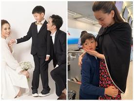 Con trai Cường Đô La chụp ảnh cưới cùng ba và mẹ kế, dân mạng xót xa Hà Hồ: 'Cô ấy chắc đau lòng lắm'