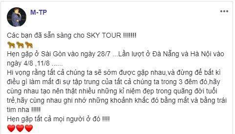 Trước thềm Sky Tour 2019, Sơn Tùng dặn dò fan điều gì?-1