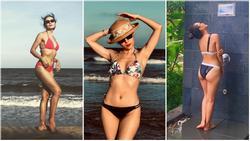 Danh xưng 'Thánh bikini Vbiz' gọi tên ca sĩ Phương Linh: về quê mà mang đến 35 kg đồ bơi 2 mảnh