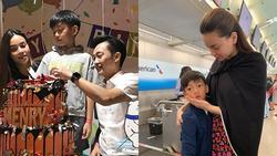 Đăng lại ảnh tiễn con trai về nhà dự hôn lễ Cường Đô La, Hồ Ngọc Hà gây sốt với status 'Thương Subeo'