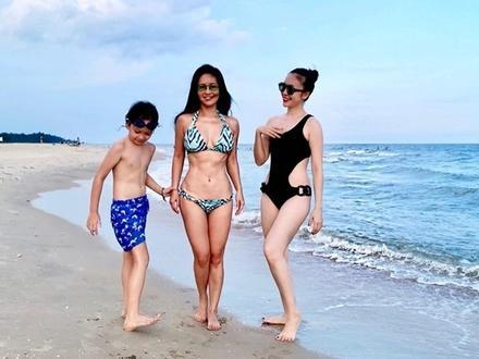 Mẹ 2 con Diva Hồng Nhung U50 khoe cơ bụng săn chắc cực sexy, chị em tuổi 20 chưa chắc có được