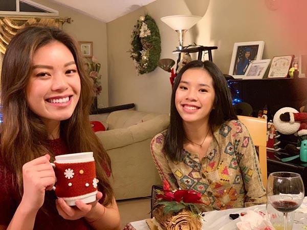 Bất ngờ trước nhan sắc cực bắt mắt của cặp ái nữ nhà Hồng Đào - Quang Minh-3