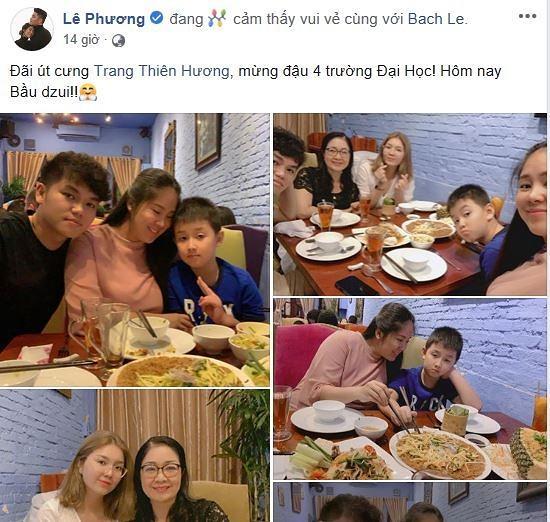 Đang bầu bí diễn viên Lê Phương khoe vừa đón nhận thêm niềm vui bất ngờ từ người đặc biệt-1
