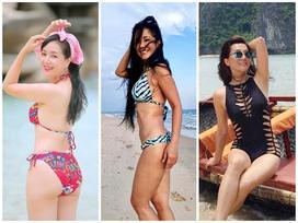 3 'bông hồng' showbiz Việt tuổi quá 50, có người đã lên chức bà mà diện bikini đẹp nức nở, gái chưa chồng còn 'xách dép'