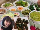 Vợ Hồng Đăng khoe bữa cơm gần 10 món nhưng nấu xong lại rưng rưng nước mắt