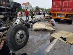 Hải Dương: Khởi tố bị can, bắt tạm giam tài xế xe tải bị lật đè tử vong 5 người trên quốc lộ