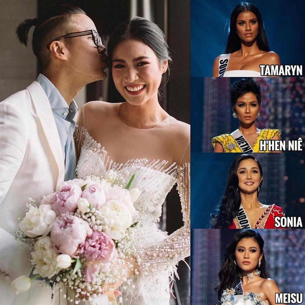 Bản tin Hoa hậu Hoàn vũ 26/7: HHen Niê sang Thái làm phù dâu, dân mạng chỉ sợ cô chặt luôn cả tân nương ngày cưới-1