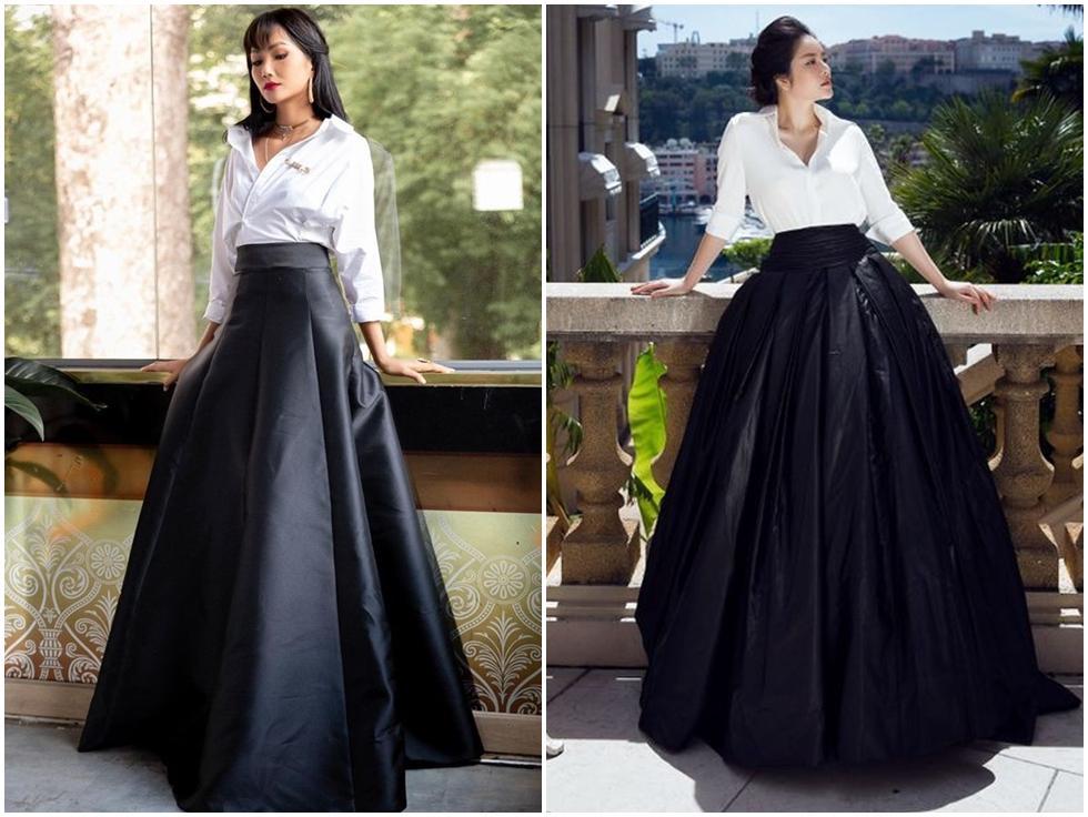 Diện sơ mi và chân váy đen siêu to khổng lồ giống Lý Nhã Kỳ, HHen Niê kém 10 tuổi mà nhìn còn già hơn cả đàn chị-8