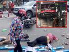 Lại thêm 1 tai nạn nghiêm trọng: Xe khách nổ lốp băng qua đường đâm hàng loạt xe máy rồi lao vào nhà dân ở Quảng Ninh