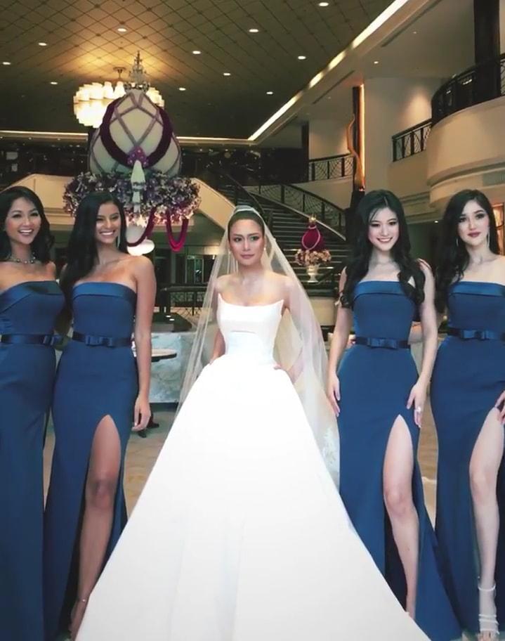 Dàn phù dâu của Hoa hậu Hoàn vũ Thái Lan: HHen Niê xinh đẹp với tóc dài nhưng lại lộ điểm bất thường-4