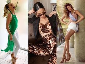 Bản tin Hoa hậu Hoàn vũ 27/7: Hoàng Thùy ăn mặc 'hổ báo' nhưng lại để lộ khuyết điểm sắc vóc trước dàn đối thủ