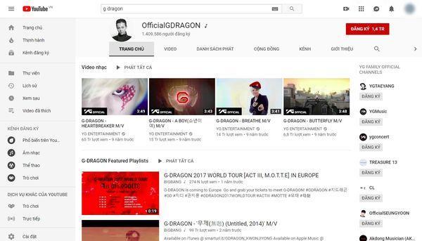 Cộng đồng V.I.P xôn xao: Kênh Youtube G-Dragon sở hữu hơn 1,4 triệu follow dù không… đăng tải video nào-1