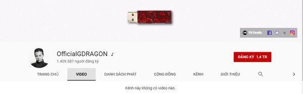 Cộng đồng V.I.P xôn xao: Kênh Youtube G-Dragon sở hữu hơn 1,4 triệu follow dù không… đăng tải video nào-2
