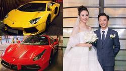 Dàn siêu xe trăm tỷ xuất hiện trong đám cưới Cường Đô La khiến người xem không sốt mà bỗng 'hoa cả mắt'