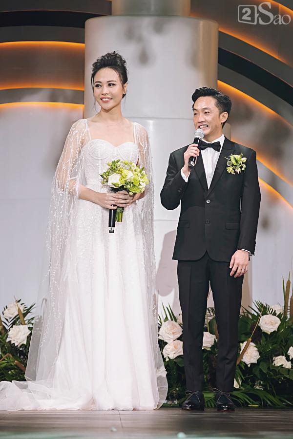 Cận cảnh 3 chiếc váy cưới chính thức trong hôn lễ với Cường Đô la giúp Đàm Thu Trang tỏa sáng như nàng công chúa bước ra từ chuyện cổ tích-8