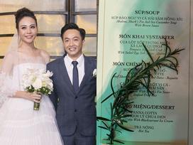 Thực đơn lễ cưới của Cường Đô La - Đàm Thu Trang có món gì?