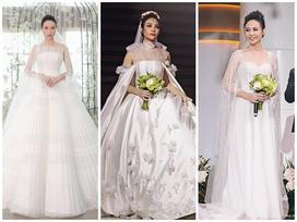 Cận cảnh 3 chiếc váy cưới chính thức trong hôn lễ với Cường Đô la giúp Đàm Thu Trang tỏa sáng như nàng công chúa bước ra từ chuyện cổ tích