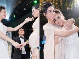 Bị 'cắt vai' phù dâu trước giờ G, Diệp Lâm Anh quyết tâm chờ tới cuối hôn lễ chỉ để... ôm Đàm Thu Trang