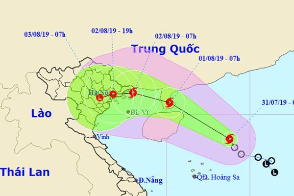 Áp thấp nhiệt đới mạnh thành bão số 3, hướng vào Quảng Ninh - Nam Định-1