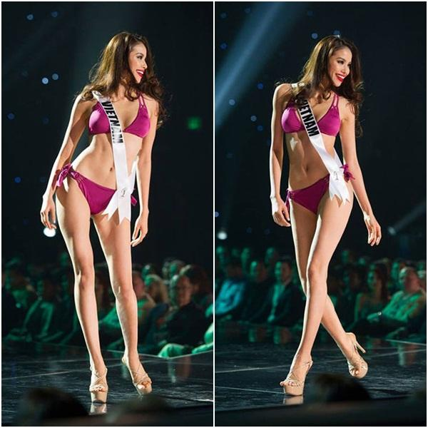 4 năm sau Miss Universe, Phạm Hương mặc bikini tái hiện màn catwalk mình xà gây tranh cãi-2