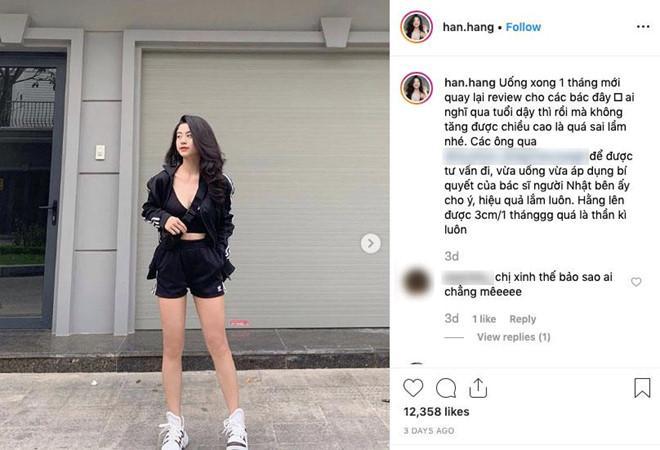 Hotgirl Hàn Hằng bị ném đá vì PR thuốc tăng chiều cao 3 cm/tháng-1
