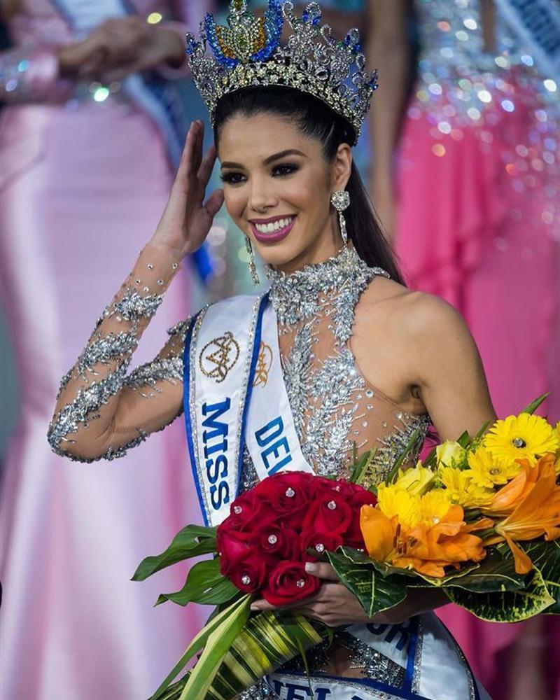 Hoa hậu Venezuela 2019 lộ diện kém sắc, ngực lép nhưng vẫn đe dọa khả năng intop của Hoàng Thùy-3