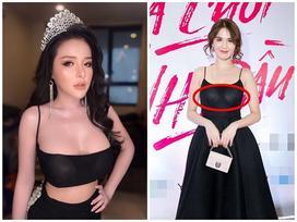 Lỗi thời trang cơ bản khiến Ngọc Trinh, Ngân 98 ê chề vì lộ miếng dán ngực phản cảm