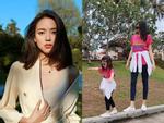 Hơn 4 tuổi đã sở hữu nhan sắc và chiều cao nổi bật, con gái Hoa hậu Thế giới Trương Tử Lâm leo top hot search-8