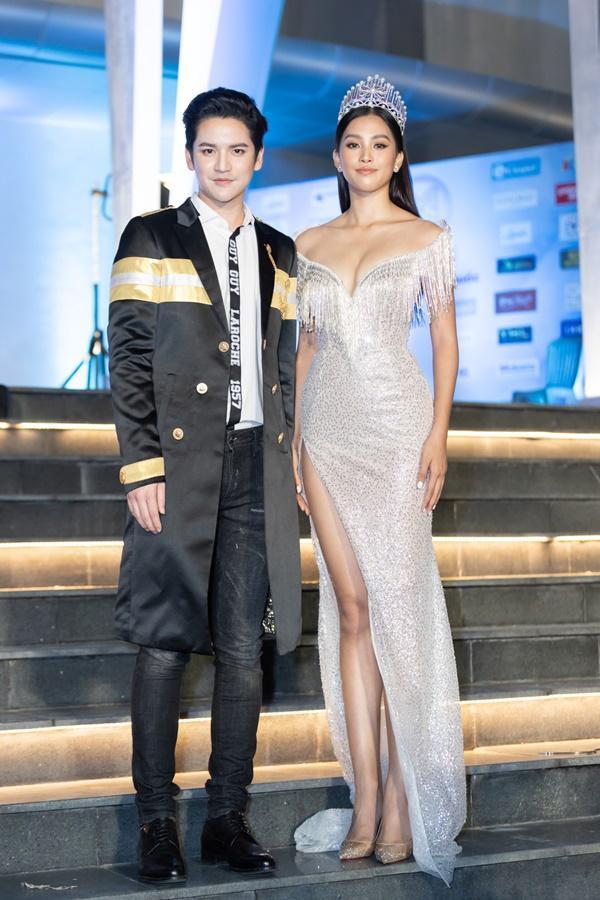 Lương Bằng Quang sánh bước dàn hoa hậu đình đám trên thảm đỏ Miss World Vietnam 2019-4